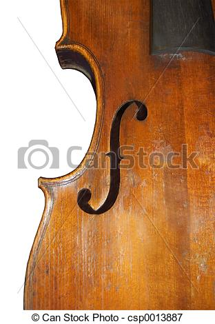 Picture of Violin f Hole.