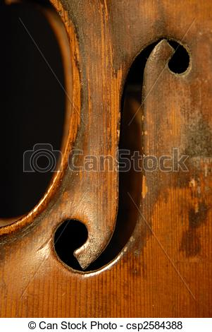 Pictures of f hole an old violin csp2584388.