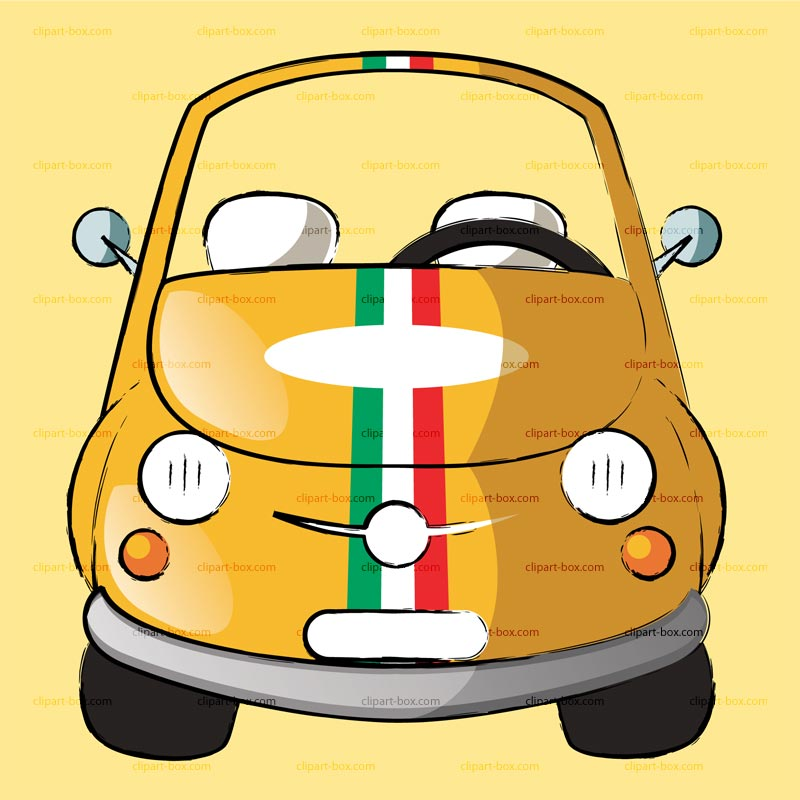 Fiat 500 clipart » Clipart Station.