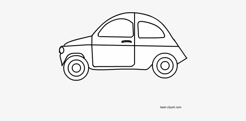 Free Black And White Car Clip Art.