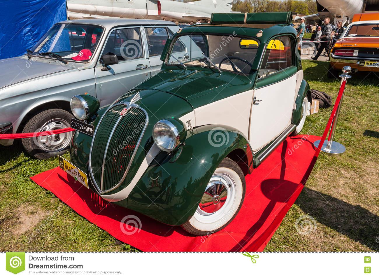 Italian Fiat 500 Topolino Vintage Car Editorial Stock Photo.