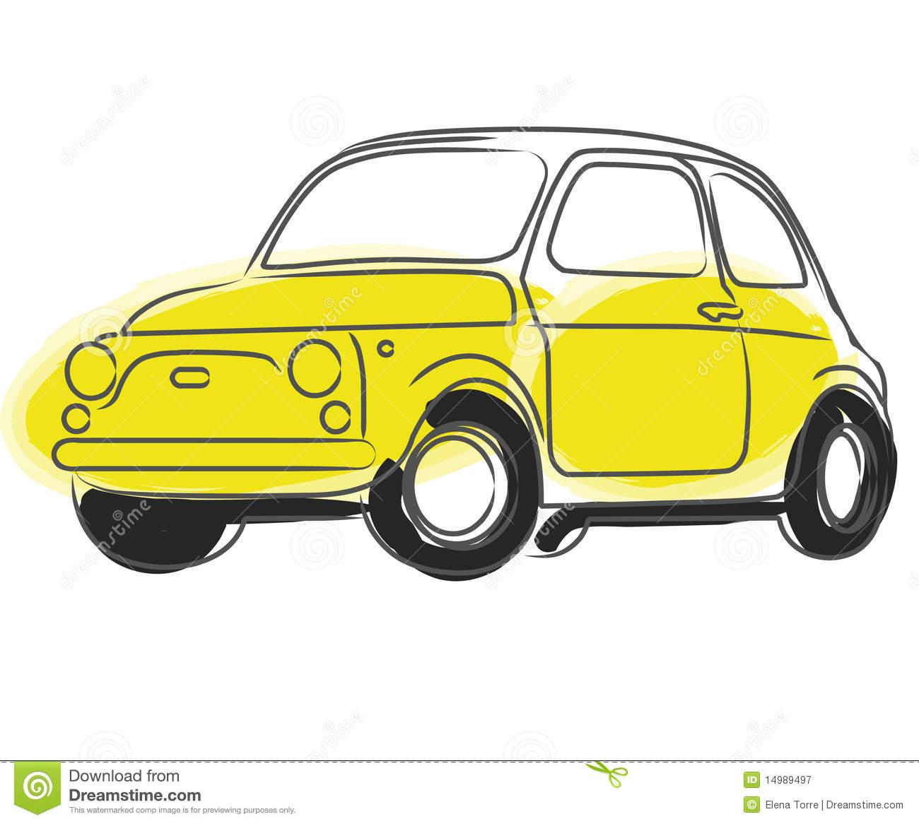 Fiat Cinquecento Car Vector Royalty Free Stock Photography.