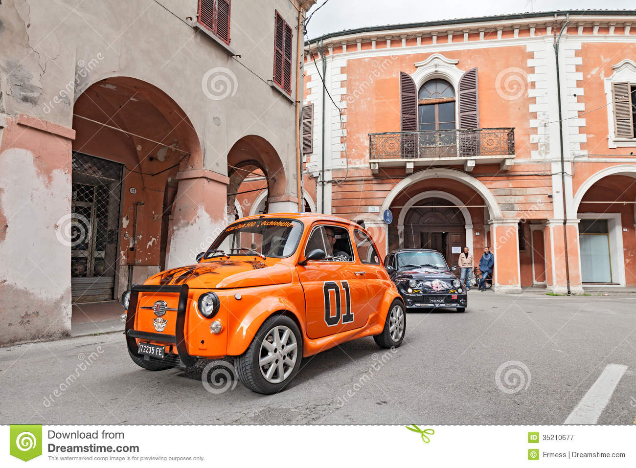 Tuned Vintage Car Fiat 500 Editorial Photography.