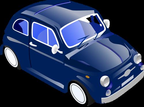 Vector clip art of Fiat 500.