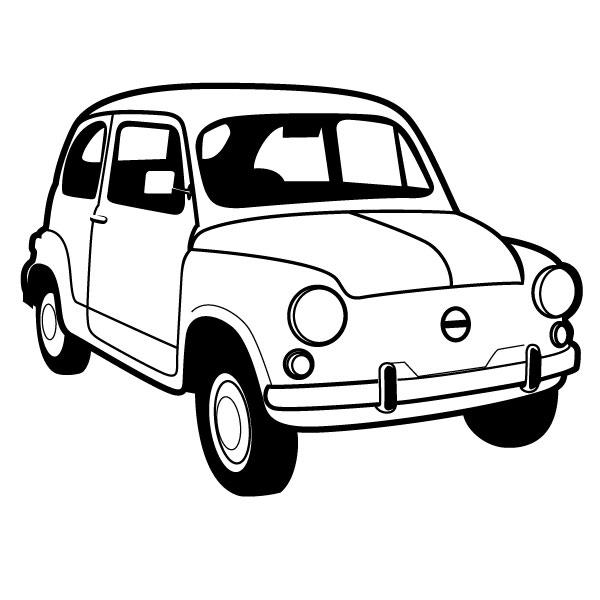 Fiat panda clipart.