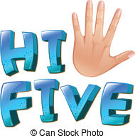 Hi five Vector Clip Art EPS Images. 135 Hi five clipart vector.