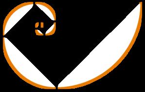 Fibonacci Spiral Orange Clip Art at Clker.com.