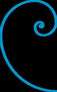 Fibonacci Spiral Blue clip art.