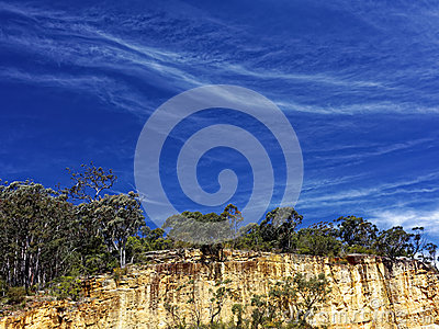 Cirrus Clouds In Blue Sky. Stock Images.
