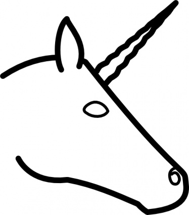 Unicorn Head Profile clip art vector, free vector images.