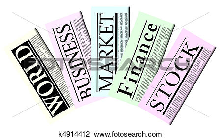 Clipart of Fictitious Newspapers k4914412.