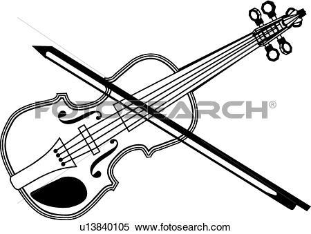 Clipart of Fiddle u13840105.
