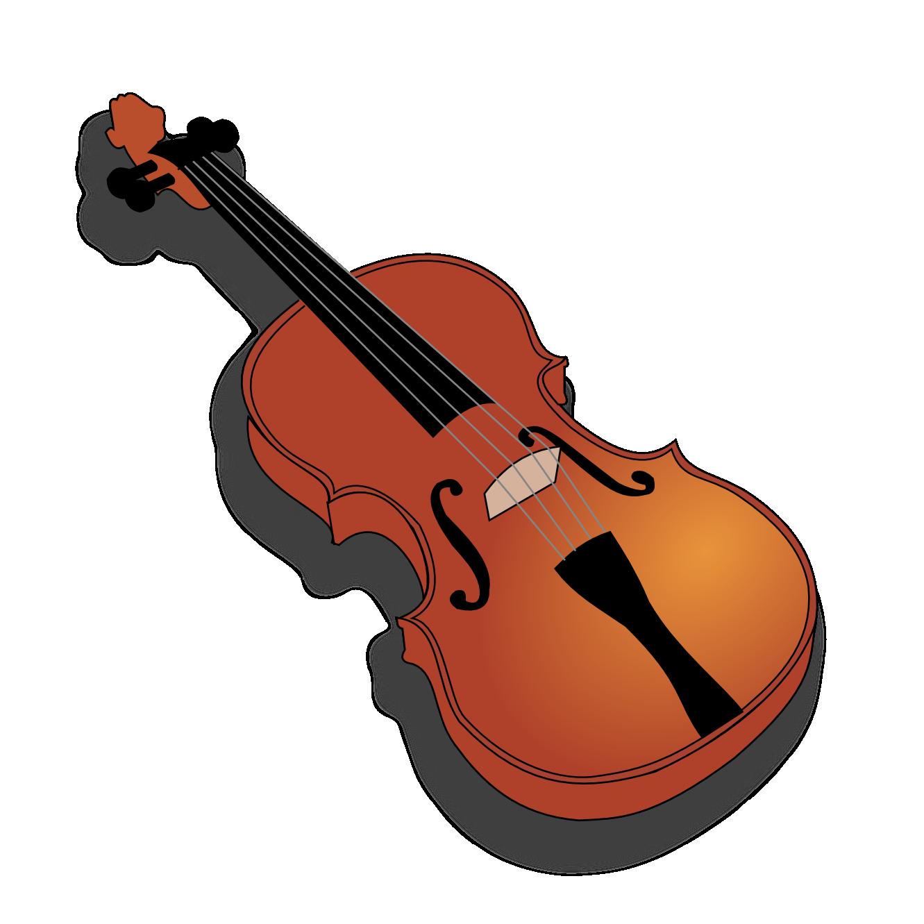 1561 Violin free clipart.
