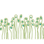Vector Illustration of Seamless Fiddle Fern Border.