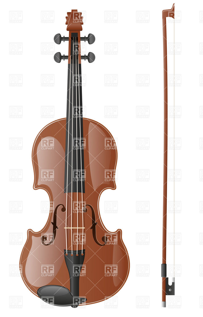 Violin with fiddlestick Vector Image #19911.