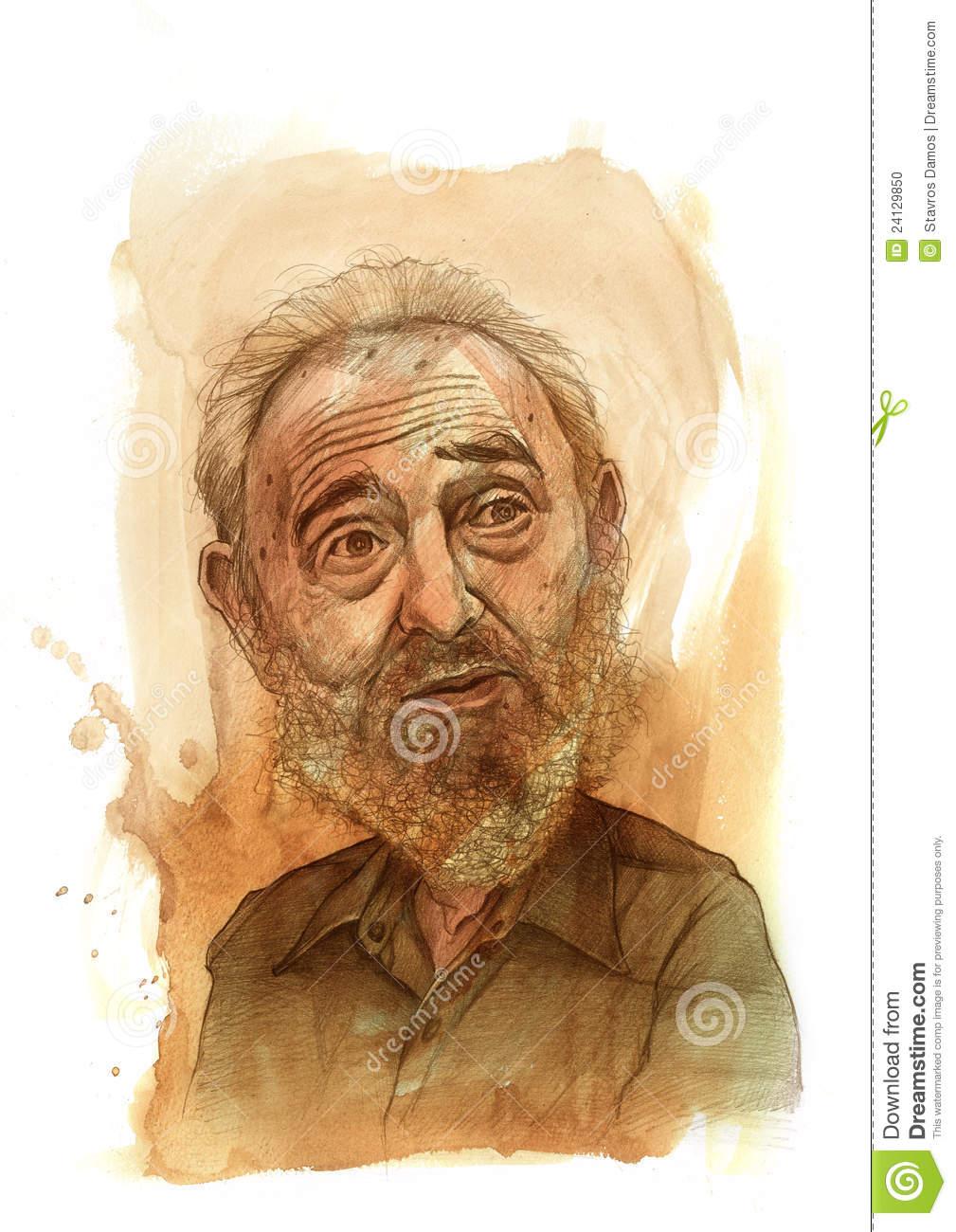 Fidel Castro Sketch Editorial Image.