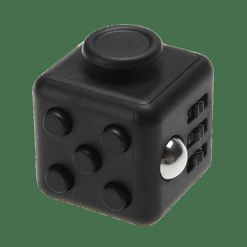 Black Fidget Cube transparent PNG.