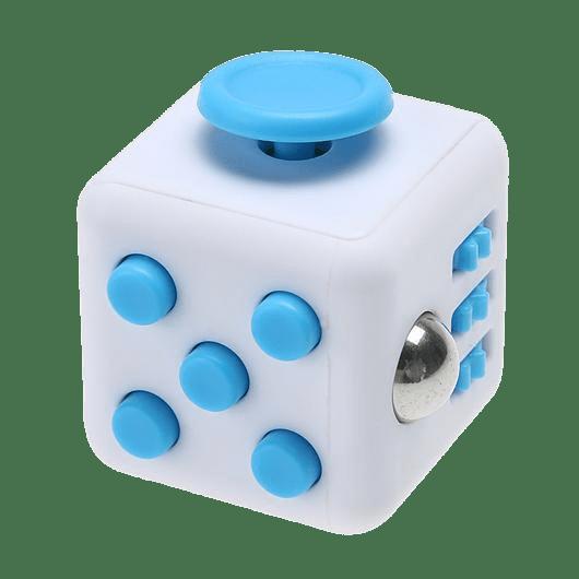 White and Blue Fidget Cube transparent PNG.