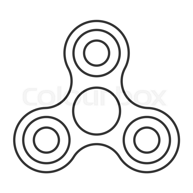 Fidget spinner icon.
