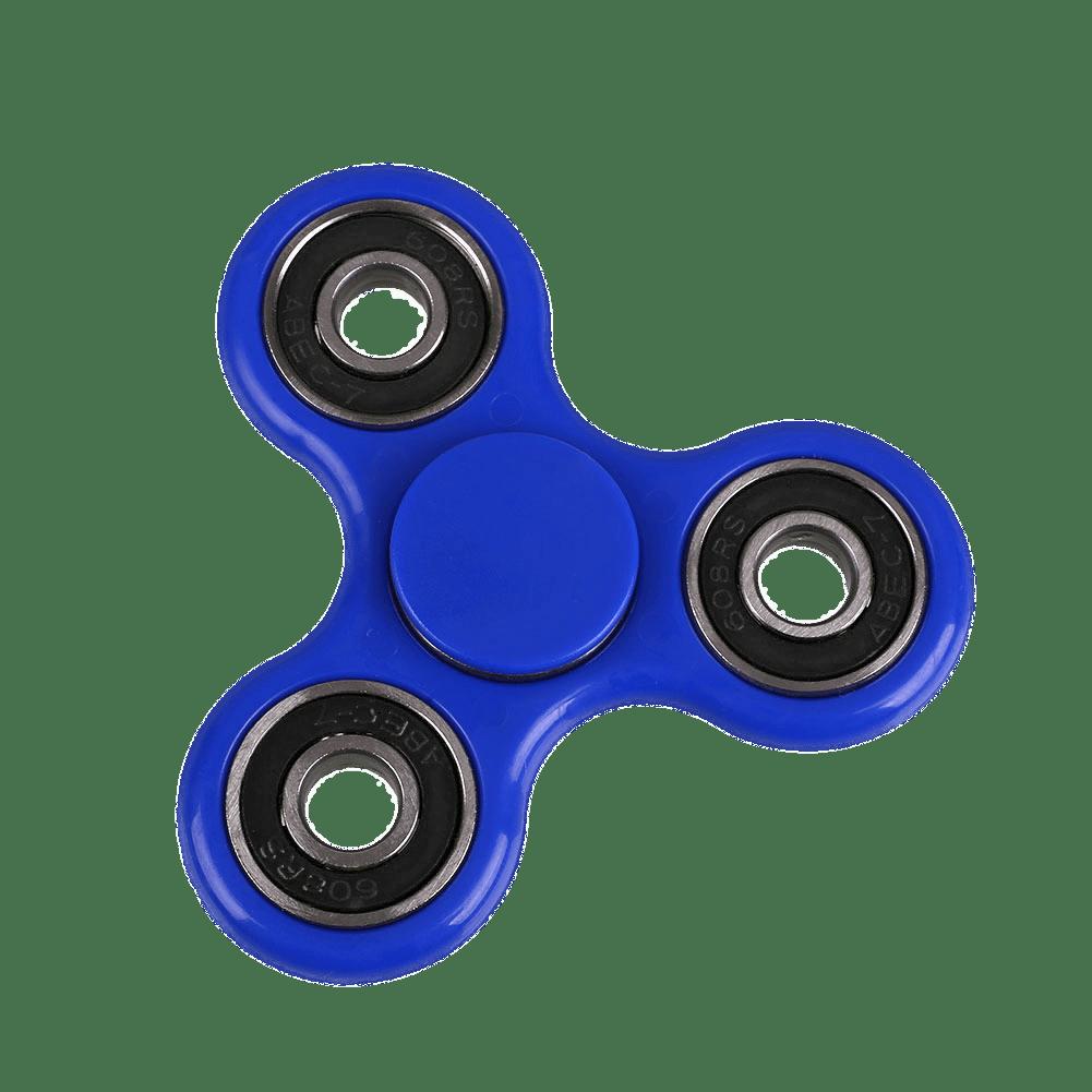 Blue Fidget Spinner transparent PNG.