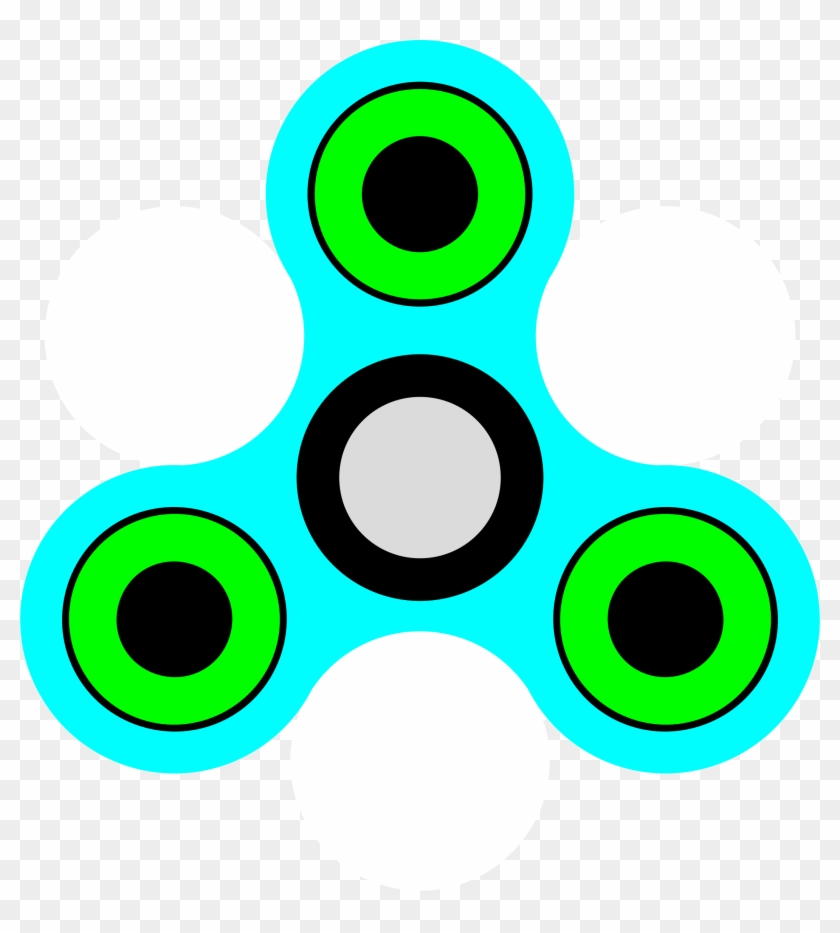 Fidget Spinner Clipart Outline.