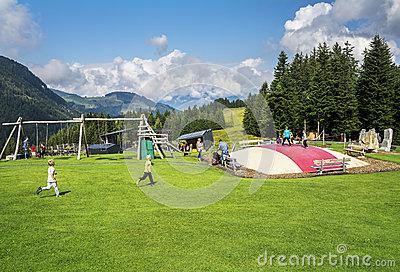 Recreation Park At Fieberbrunn, Austria Editorial Photography.