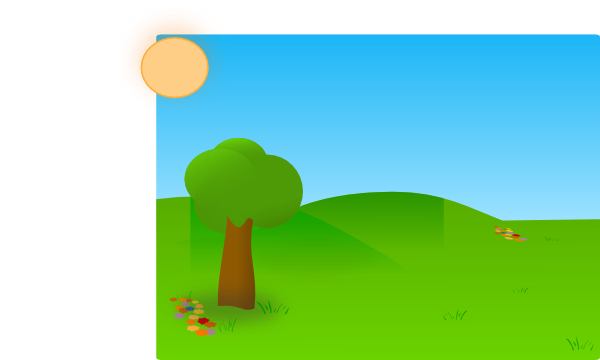 Sky and Trees Clip Art.
