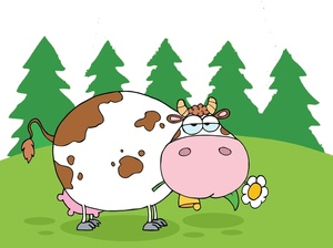 Dairy Cow Clipart Image.