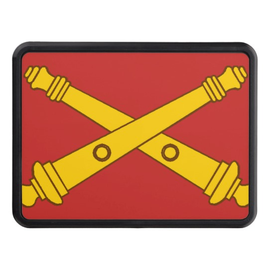 Field Artillery Crossed Cannons Trailer Hitch Cover.