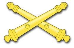 Military Vet Shop US Army Field Artillery Window Bumper Sticker Decal 3.8