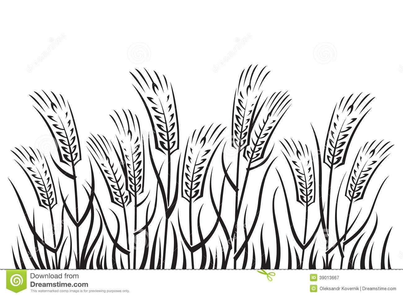 farm field clipart black and white.
