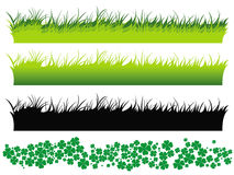 Field of Clover Clip Art.