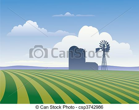Field crops clipart.