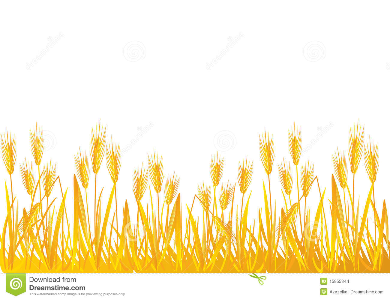 Wheat crop clipart.