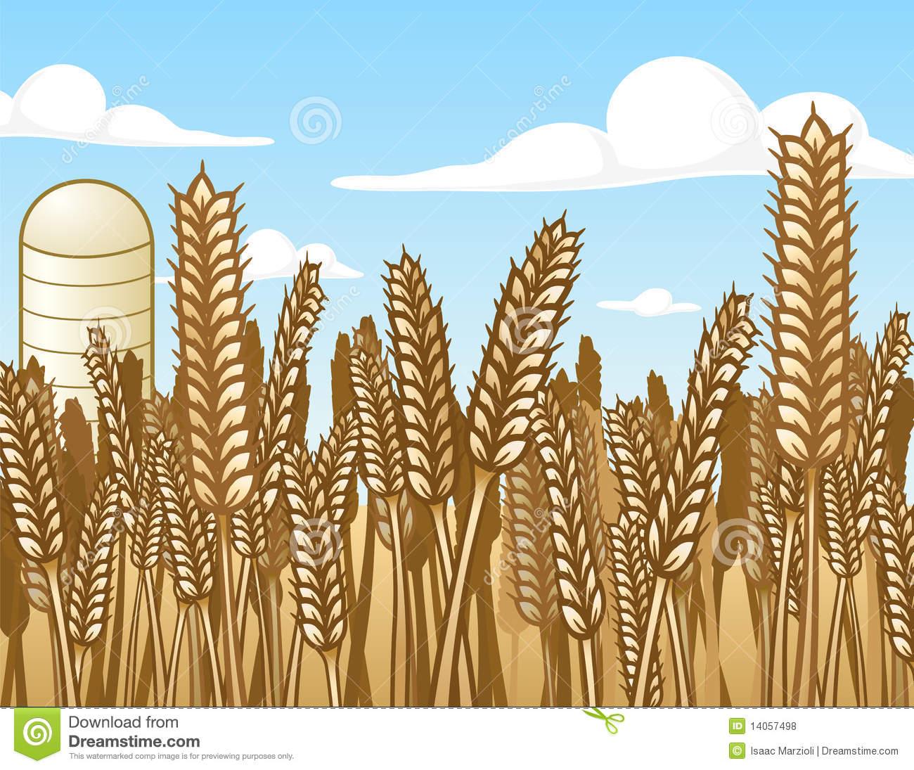 Crops Fields Clip Art.