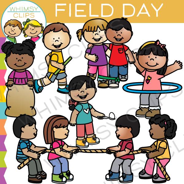 School Field Day Clip Art.