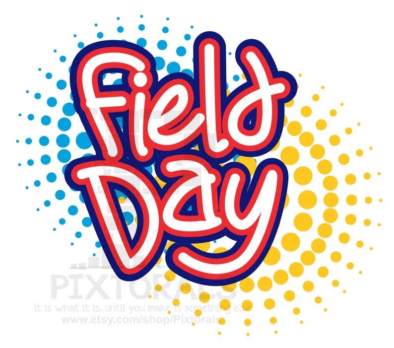 Field Day Vector! Kids Clipart, Comic Style, EPS file (Vector), jpeg, png,  Screen Printing, School Field Day Word Art.