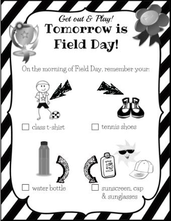 Organizing Field Day.