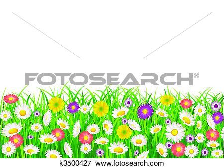 Stock Illustration of Flower field k3500427.