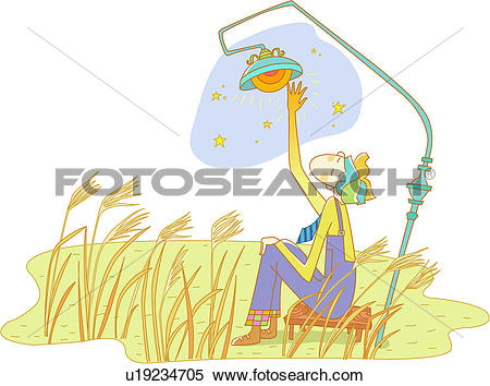 Stock Illustration of arm, reed, sitting, chair, outdoors, field.