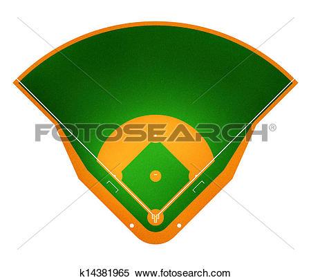 Stock Illustration of Baseball field k14381965.