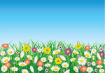 Clip Art Vector of Flower field csp3500426.