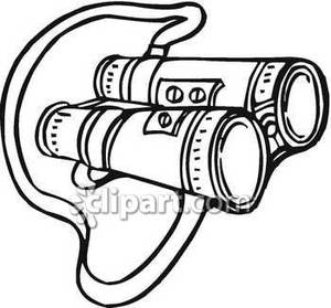 Clipart binoculars black and white.