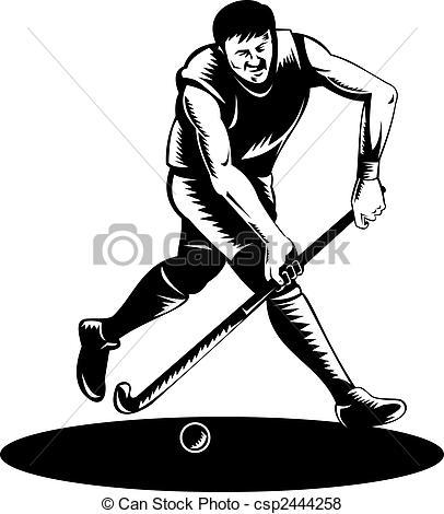 Field hockey Illustrations and Clipart. 1,335 Field hockey royalty.