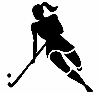 Field hockey clip art.