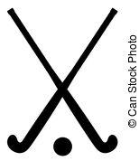 Field hockey stick clipart.