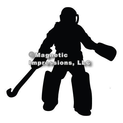 Field Hockey Goalie Car Magnet.
