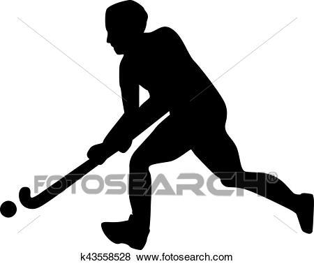 Field Hockey Player Clip Art.