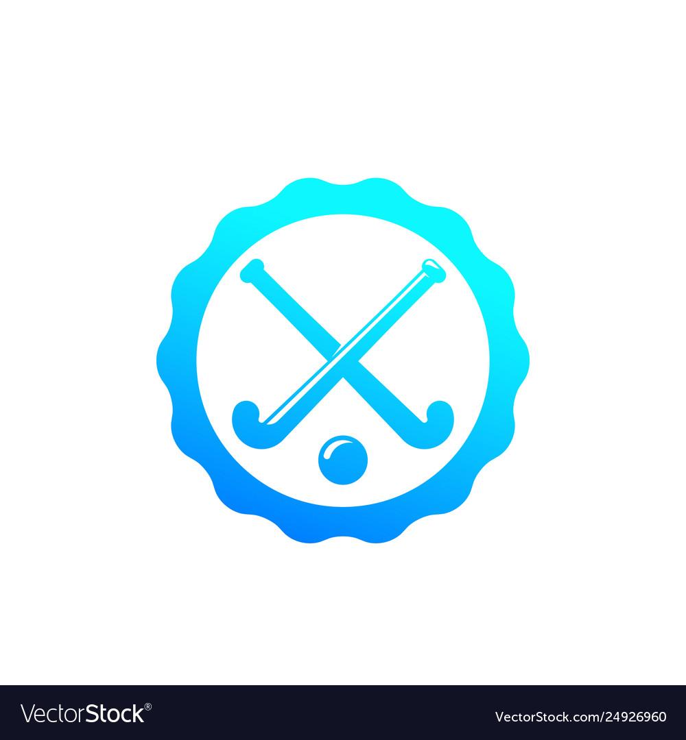 Field hockey badge logo.