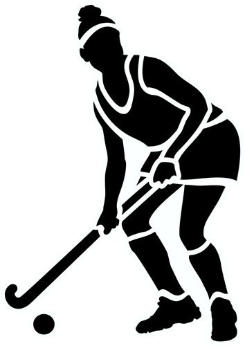 New field hockey and cross country layout clipart.